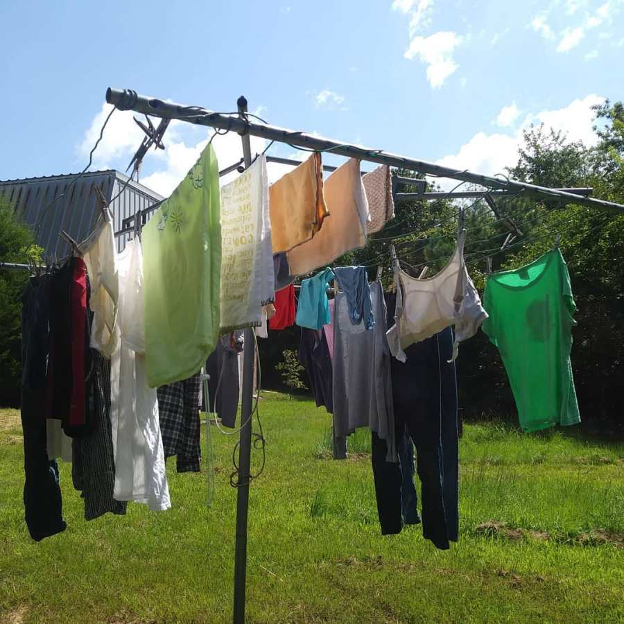 laundry on the line